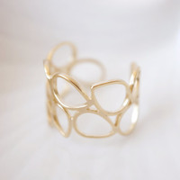 Gold Teardrop Ring