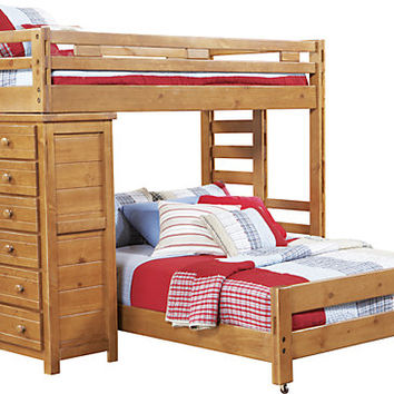 Creekside Taffy Twin Full Student Loft Bedroom w Chest