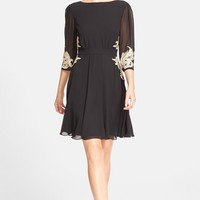 Women's Ted Baker London 'Gaenor' Embroidered Fit & Flare Dress