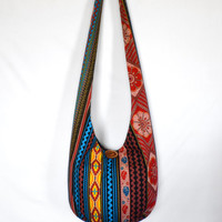 Hobo Bag, Sling Bag, Striped, Floral, Geometric, Hippie Purse, Crossbody Bag
