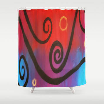 Dusk Abstract Shower Curtain by DuckyB (Brandi)