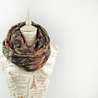 Real Tree Camo Scarf Infinity RealTree Camouflage Timber Circle Jersey Brown Chunky Warm