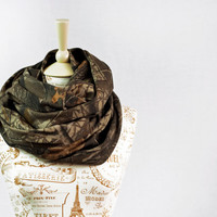 RealTree Camo Infinity Scarf Camouflage Real Tree Circle Jersey Brown Chunky Warm