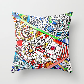 Surrounded Throw Pillow by DuckyB (Brandi)