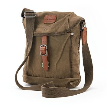 The Same Direction Military-Inspired Leather Forest Crossbody Bag