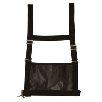 Weaver Leather Exhibitor Number Harness, Medium/Large - Adult, Black