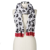 Juicy Couture Leopard Jacquard Muffler Scarf