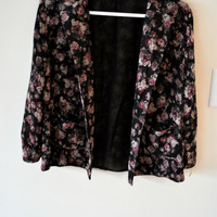 Floral Light Blazer Cardigan