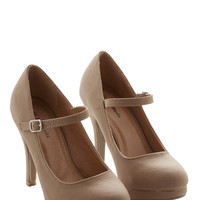 ModCloth Timeless of My Life Heel in Caramel