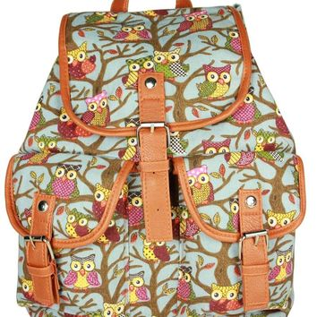 Crazy Genie New Vintage Floral Ladies Canvas Bag/School Bag/Backpack