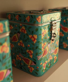 hand painted kashmiri storage tin by the forest & co | notonthehighstreet.com
