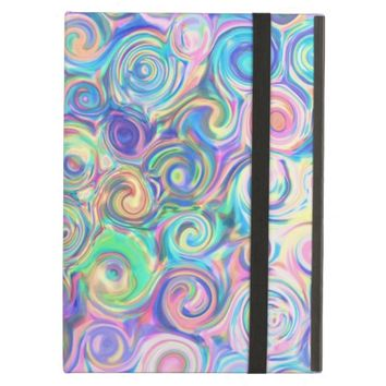 Abstract Rainbow Colorful Swirl Grunge Pattern Case For iPad