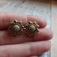 Vintage Style Studs Cameo Earrings Post Earrings Antique Style Earrings Bridesmaids Gift Under 20