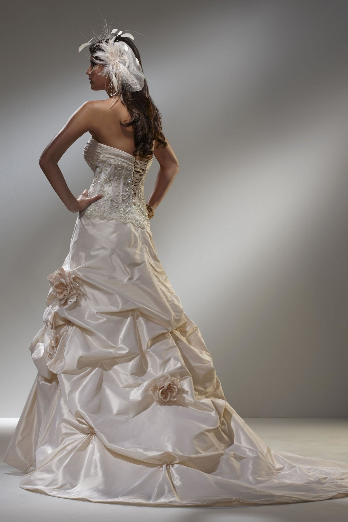 Gorgeous wedding gown featuring a sheer from for Sheer bodice wedding dress