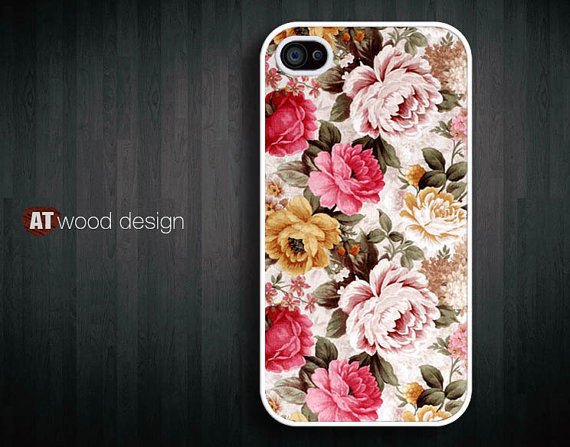 iphone four cases case for iphone 4s unique case iphone 4 or 4s case iphone 4 cover classic rose flowers design
