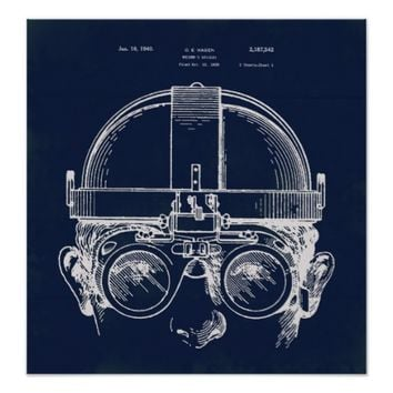 Patent Drawing Welding Goggles Steampunk poster