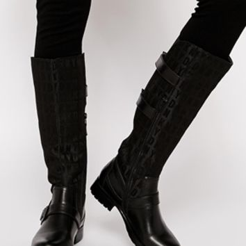 DKNY Active Naria HQ Logo Jacquard With Thinsulate Knee High Boots