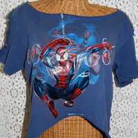 Spiderman Reconstructed Vintage T-Shirt - Size: Small