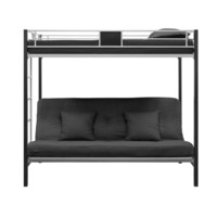 DHP Silver Screen Futon Bunk Bed