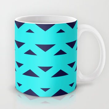 Tribal Triangles Navy Turquoise Mug by Beautiful Homes