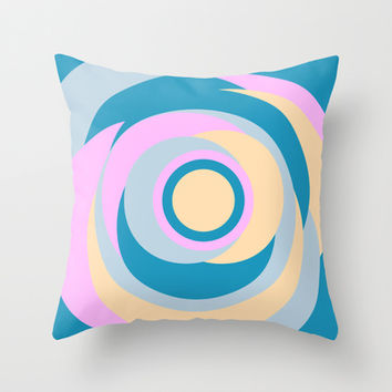 Simple Dots Series Throw Pillow by Timothy Davis