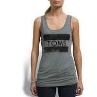 TOMS - Unisex Grey Stamp Tank