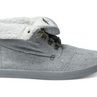 TOMS - Highlands Grey Wool Fleck Fleece Women's Botas