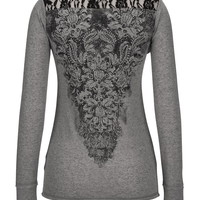 maurices premium embellished tee with lace