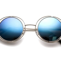 Groov Unique Round Revo Mirrored Sunglasses