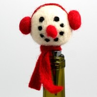 Snowman - Holiday Cheer Bottle Stopper