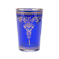 Blue Moroccan Tea Glasses - Set of 6