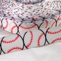 "Baseball 7/8"" Grosgrain Ribbon.. on Luulla"