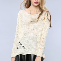Distressed Loose Sweater