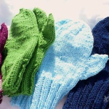 Basic Mittens, more colors from The Dizzy Windmill