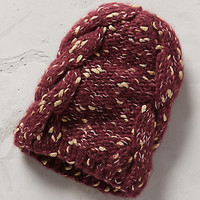 Shimmered Beanie by Anthropologie Wine One Size Scarves