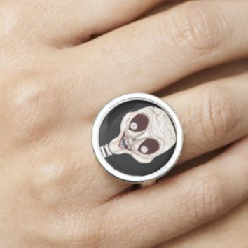 Ghoulish Skull Ring