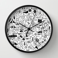 Veeka x Society6 x One & Done  Wall Clock by Lorin Brown