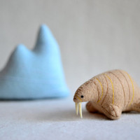 walrus - soft sculpture animal