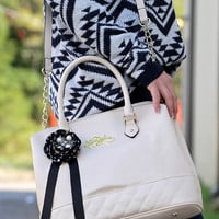Quilty Pleasure Satchel - Cream {Betsey Johnson} - Cream