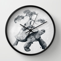 Tortoise Tree - Growth Wall Clock by Adam Dunt