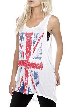 Twisted British Flag Girls Tank Top - 778622