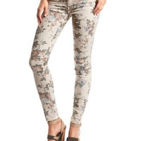 Vintage Floral Skinny Jean: Charlotte Russe