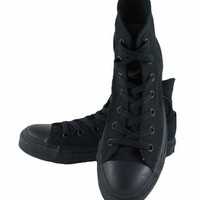 Converse All Star Monochrome Hi-Top Sneaker - Black