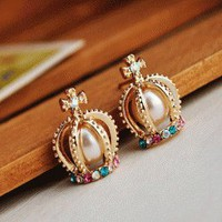 Crown Neo-Victorian Fashion Earrings  | LilyFair Jewelry