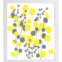 You Are My Sunshine When Skies Are Gray  8 x 10 Unframed Yellow and Gray Modern Art