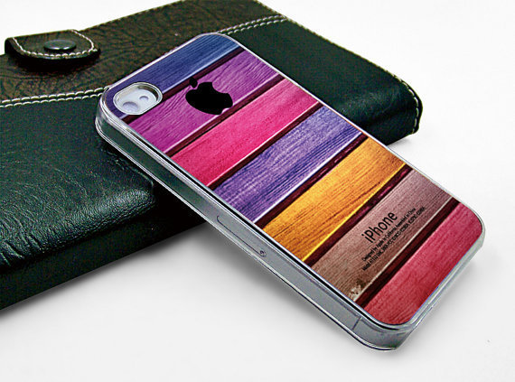 Iphone case iphone 4 case iphone 4s case iphone 4 transparent case cover beautiful colorized wood texture design printing