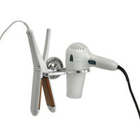 Wall Mount Flat Iron and Hair Dryer Holder