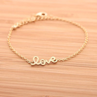 LOVE bracelet, in gold
