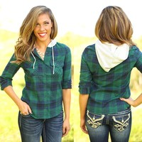 Fall Is For Flannel Hooded Top