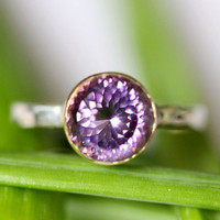 Portuguese Purple Amethyst In 14K Gold Ring by louisagallery
